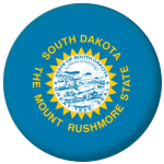 South Dakota State Flag 58mm Mirror Keyring